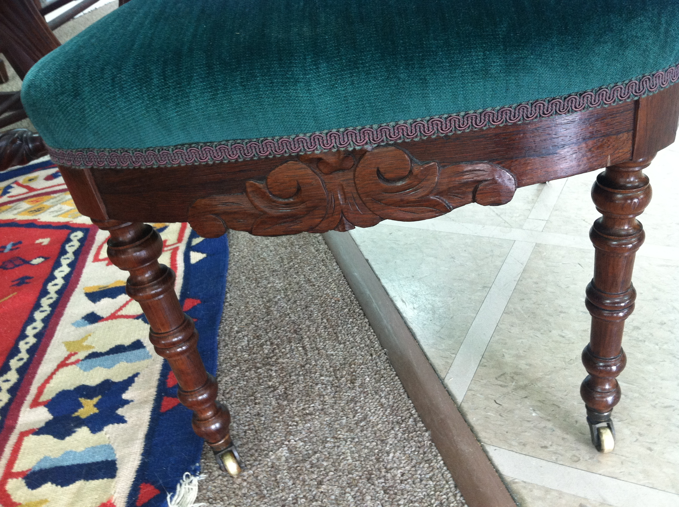 Antique victorian parlor chairs - Offered Here Is A Gorgeous Antique Victorian Rosewood Carved Parlor Chair Circa 1880 This Piece Is In Excellent Condition It Features Ornately Carved