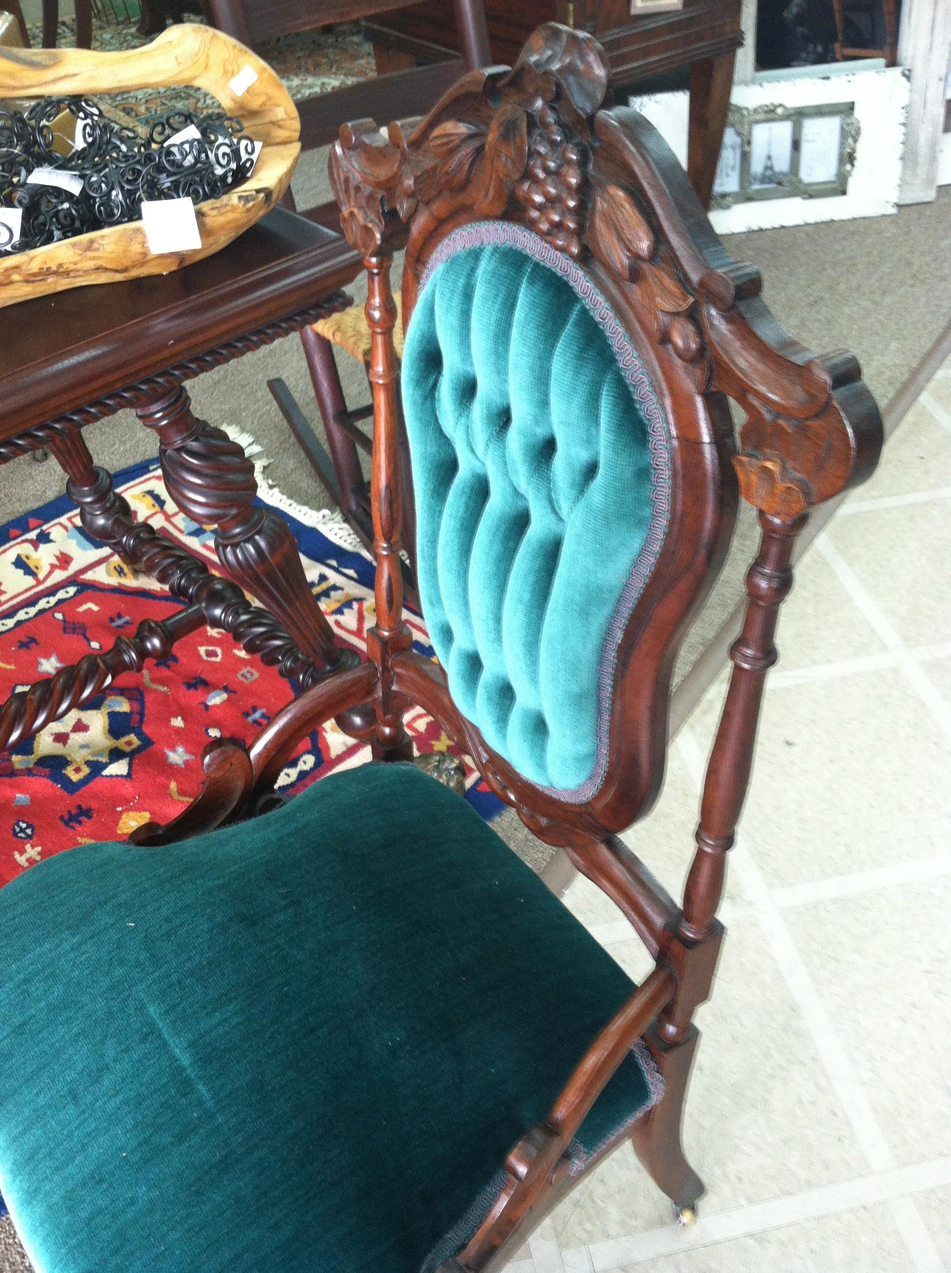 Antique victorian parlor chairs - Gorgeous Antique Victorian Rosewood Carved Parlor Chair Circa 1880 For Sale