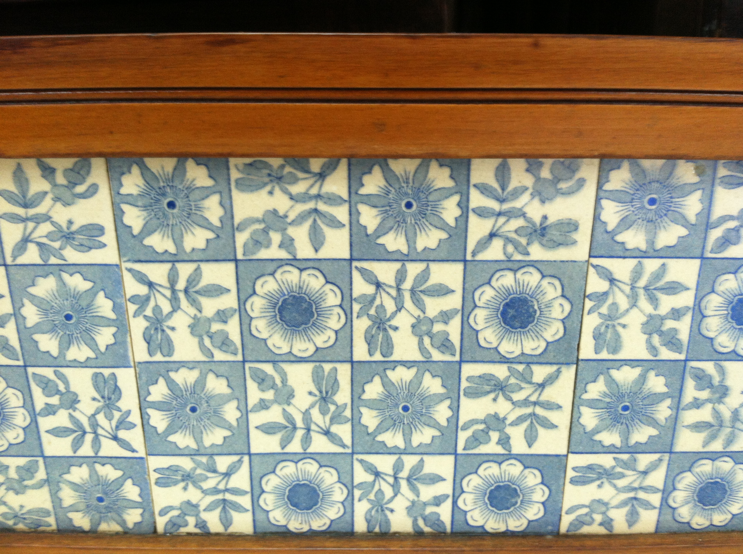 Antique tile backsplash