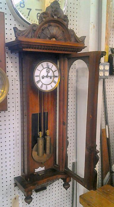 gustav becker walnut vienna regulator wall clock for sale