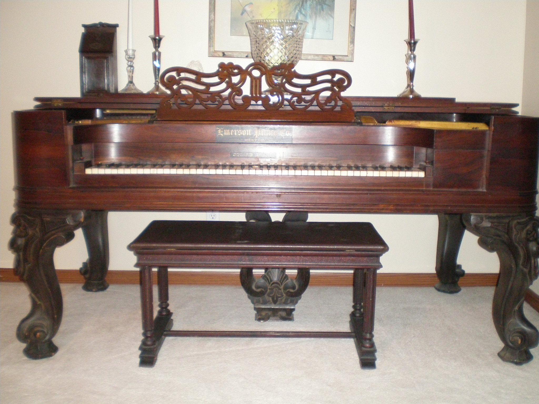 Emerson Square Grand Piano circa 1867 For Sale   Antiques.com ...