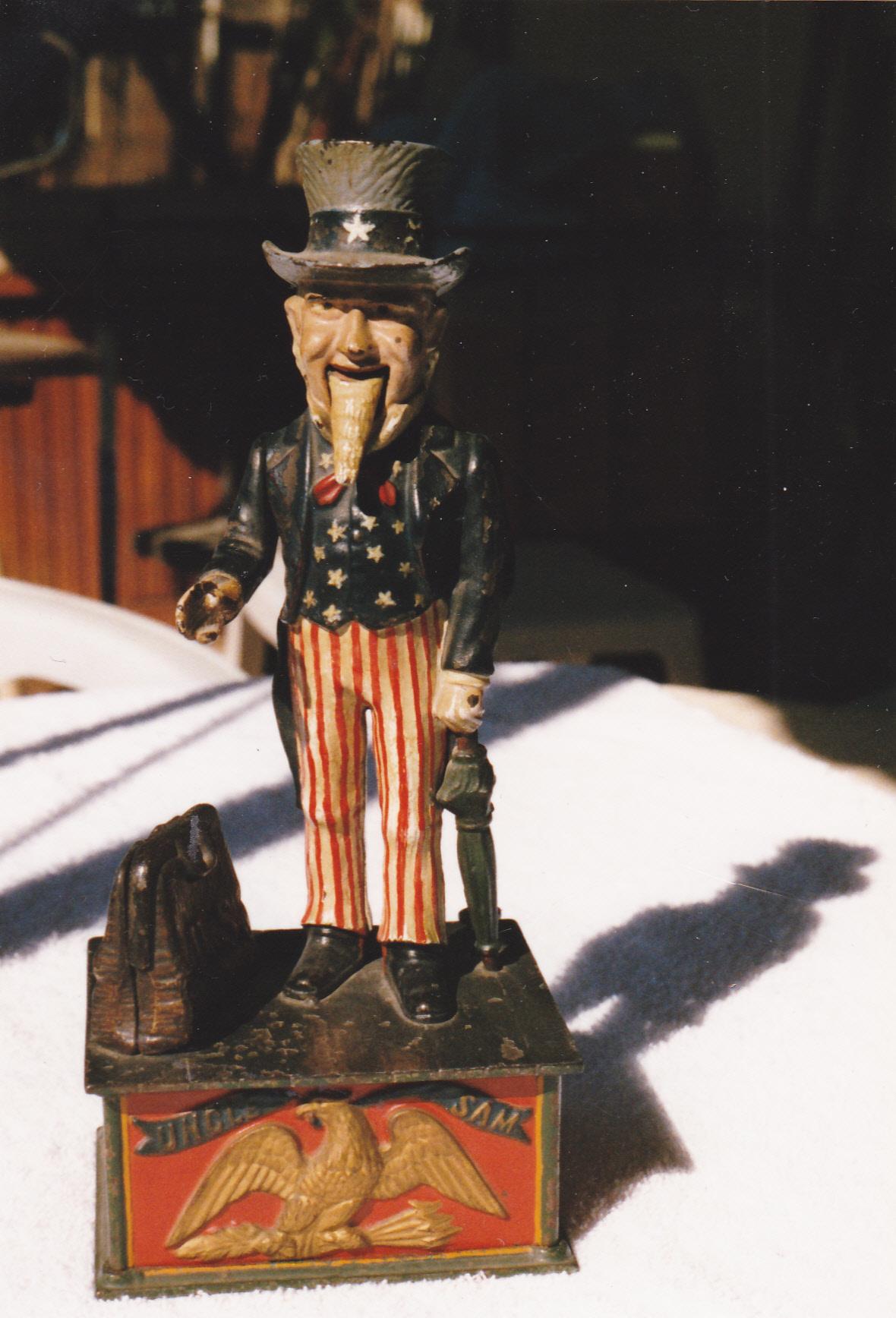 Original Uncle Sam Bank For Sale Antiques Com Classifieds
