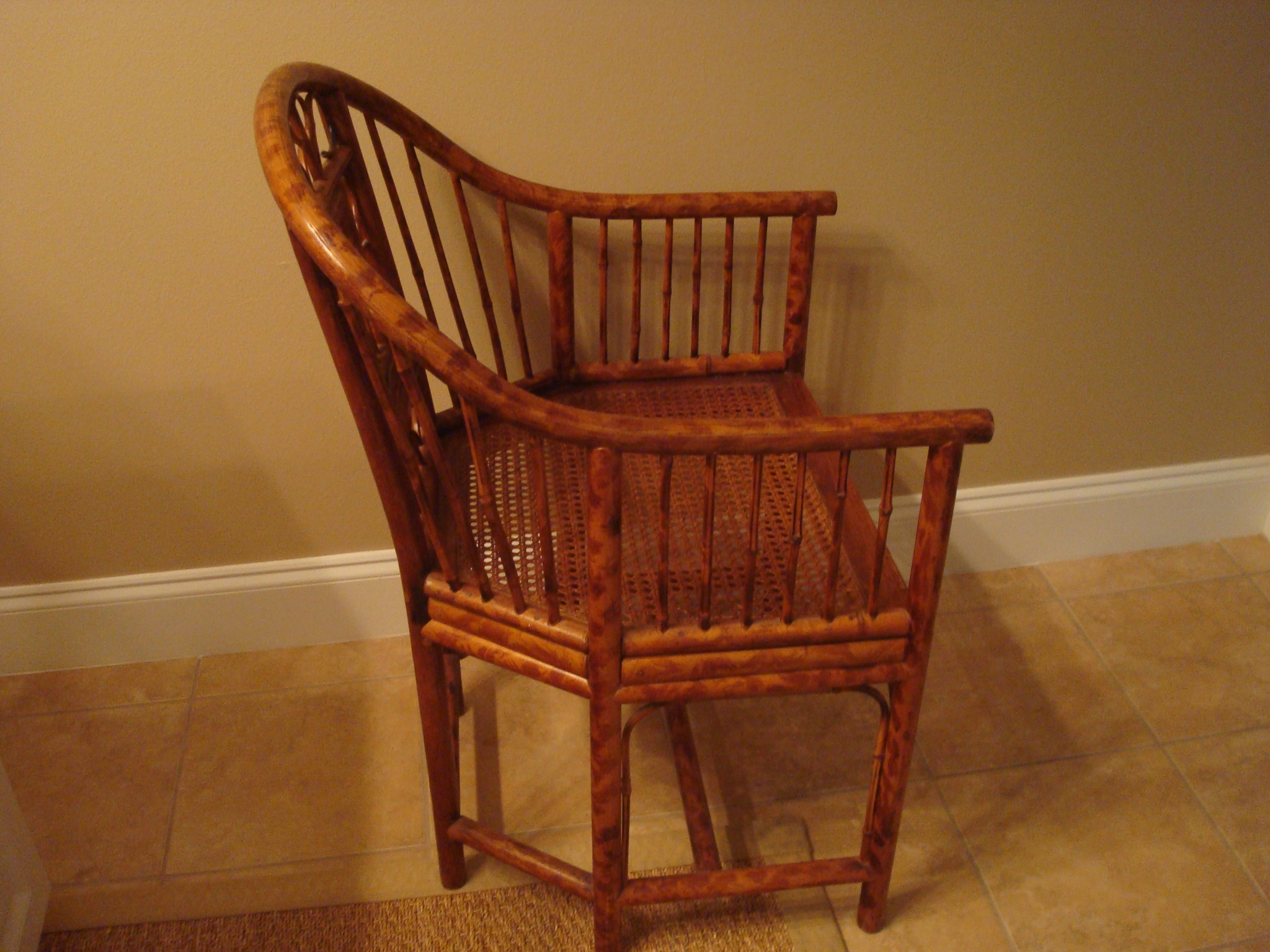 pair of bent bamboo chairs for sale