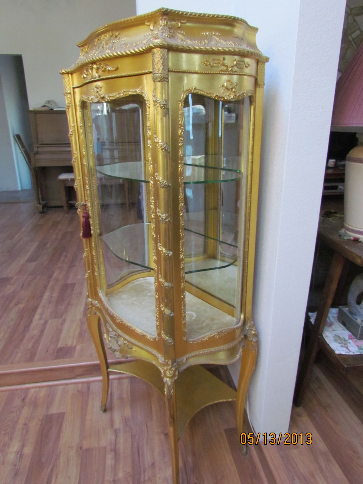 French Gold Leaf Curio Cabinet Late 1800 39 S For Sale