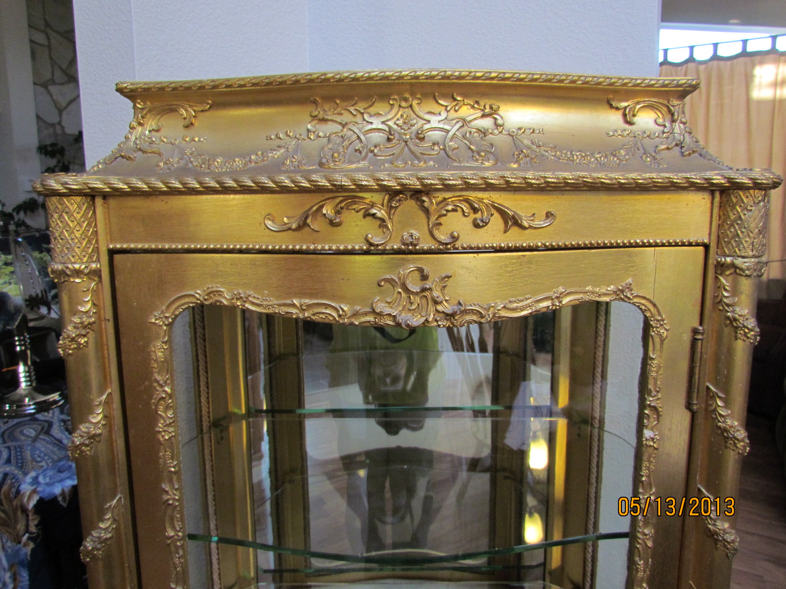 french gold leaf curio cabinet late 1800 u0027s for sale antiques