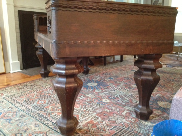 This antique desk has been in my family since it was given to my great  great grandmother as a wedding gift in 1865. It was sold and then  repurchased and ... - 1865 Piano Desk Converted To Desk 1920's For Sale Antiques.com
