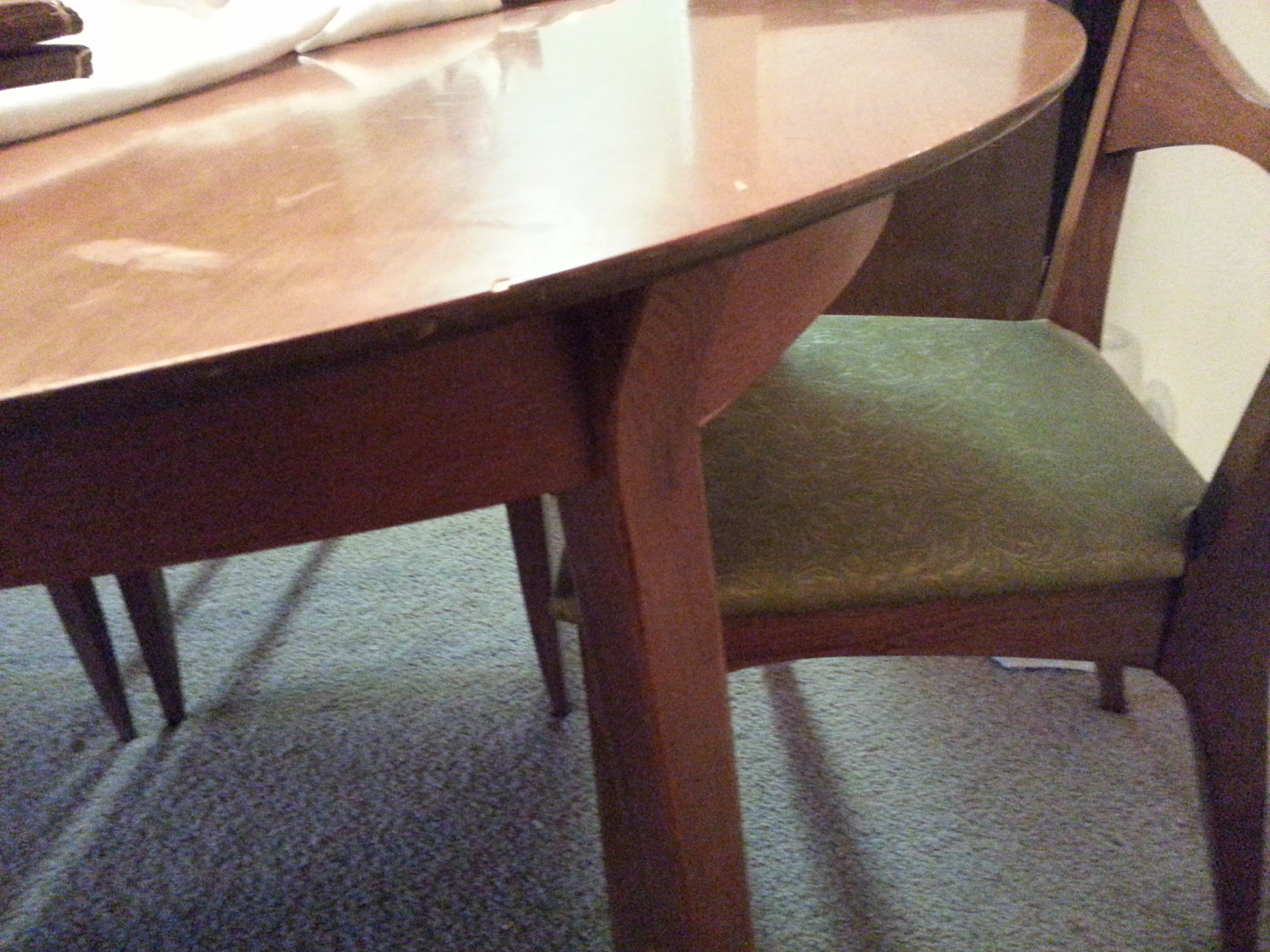 drexel eames era dining room table and chairs for sale