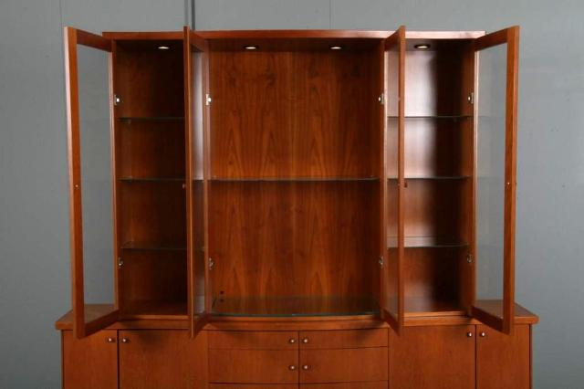 SKOVBY MID CENTURY MODERN CHINA CABINET BREAKFRONT   For Sale