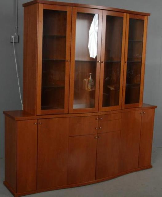 skovby mid century modern china cabinet breakfront for. Black Bedroom Furniture Sets. Home Design Ideas