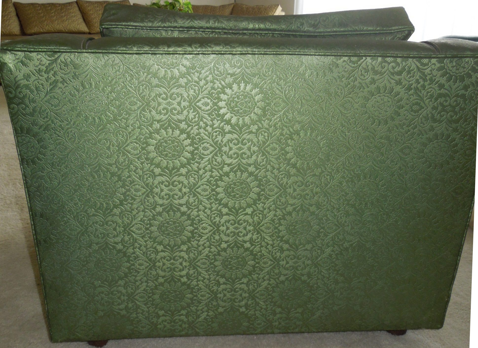 Vintage 1960s Luxury Lounge Chair Vinyl Green Color For Sale Antiques