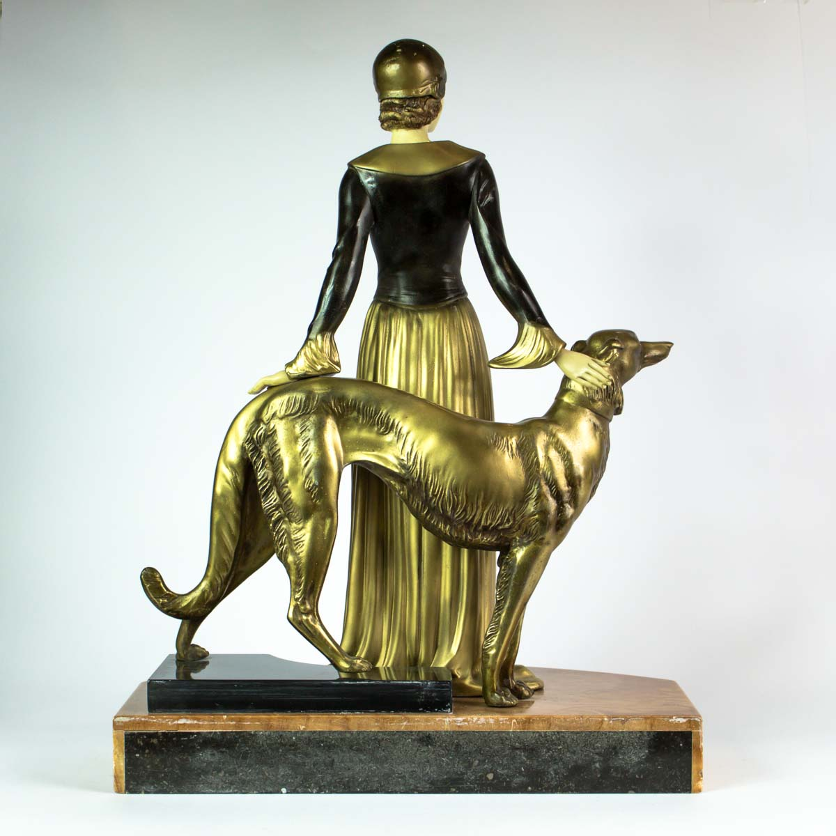 menneville and rochard french art deco chryselephantine sculpture statue for sale antiques. Black Bedroom Furniture Sets. Home Design Ideas