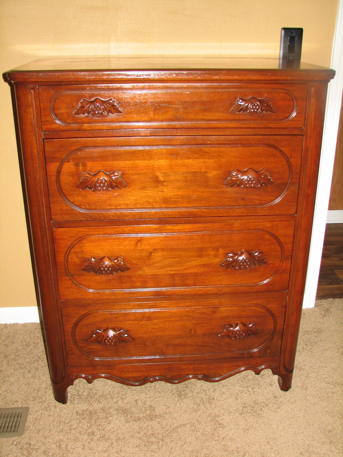 Lillian Russell Black Walnut Bedroom set For Sale | Antiques.com |  Classifieds - Lillian Russell Black Walnut Bedroom Set For Sale Antiques.com