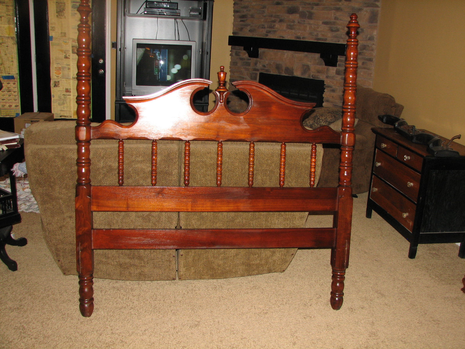 Lillian Russell Black Walnut Bedroom Set For Sale