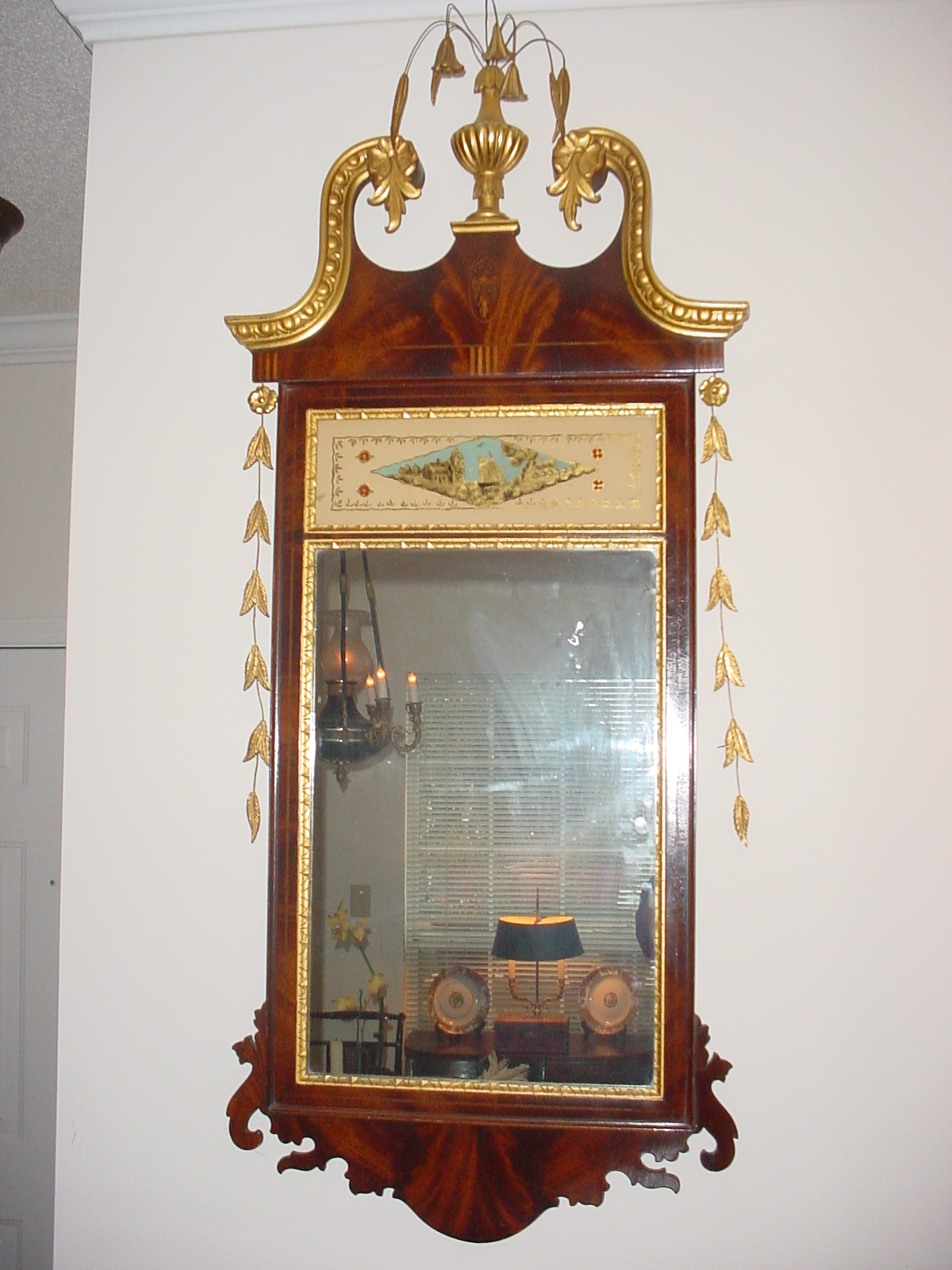 an american federal style hepplewhite mirror for sale
