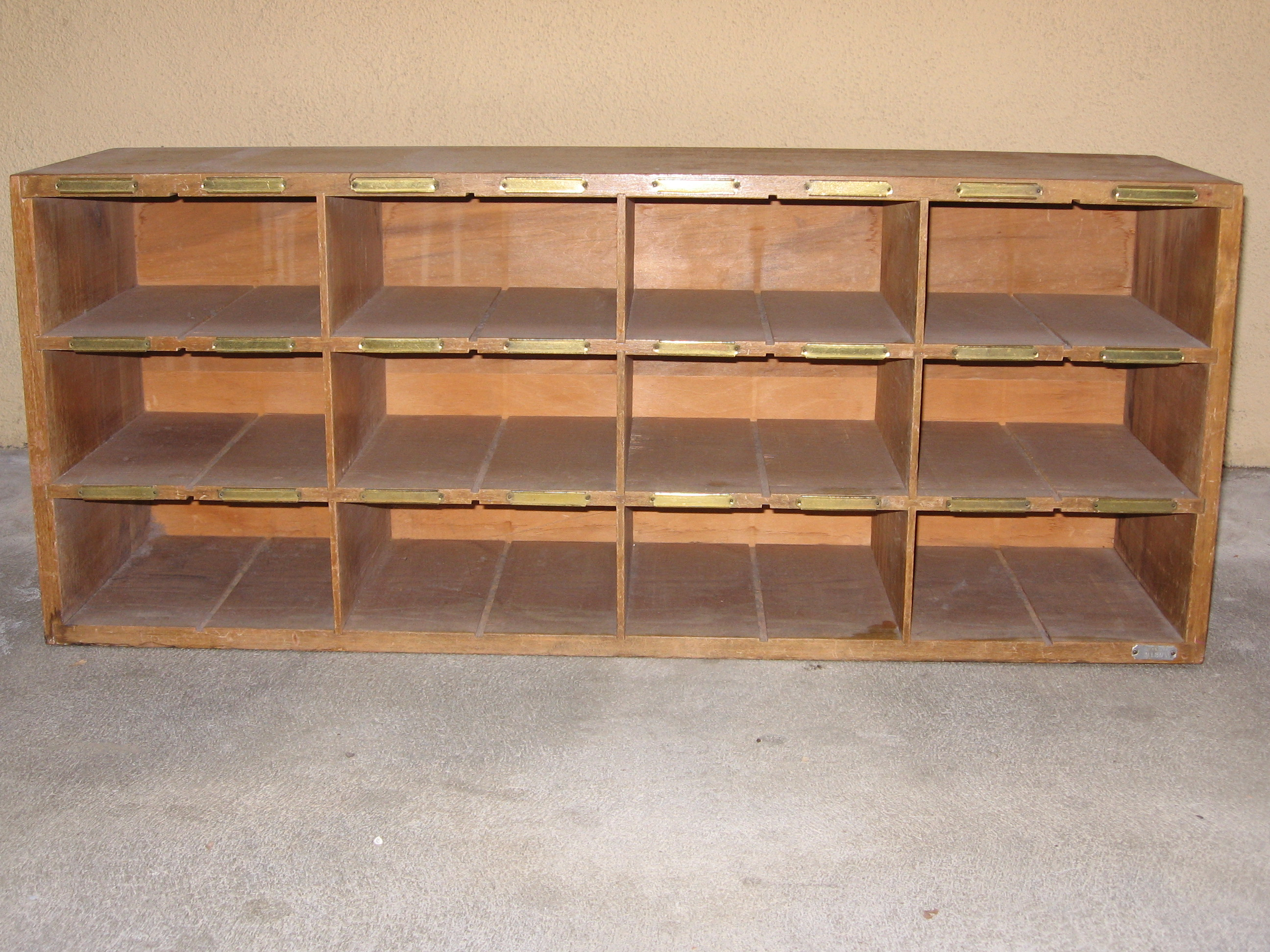 Antique Pigeon Hole Cabinet   For Sale