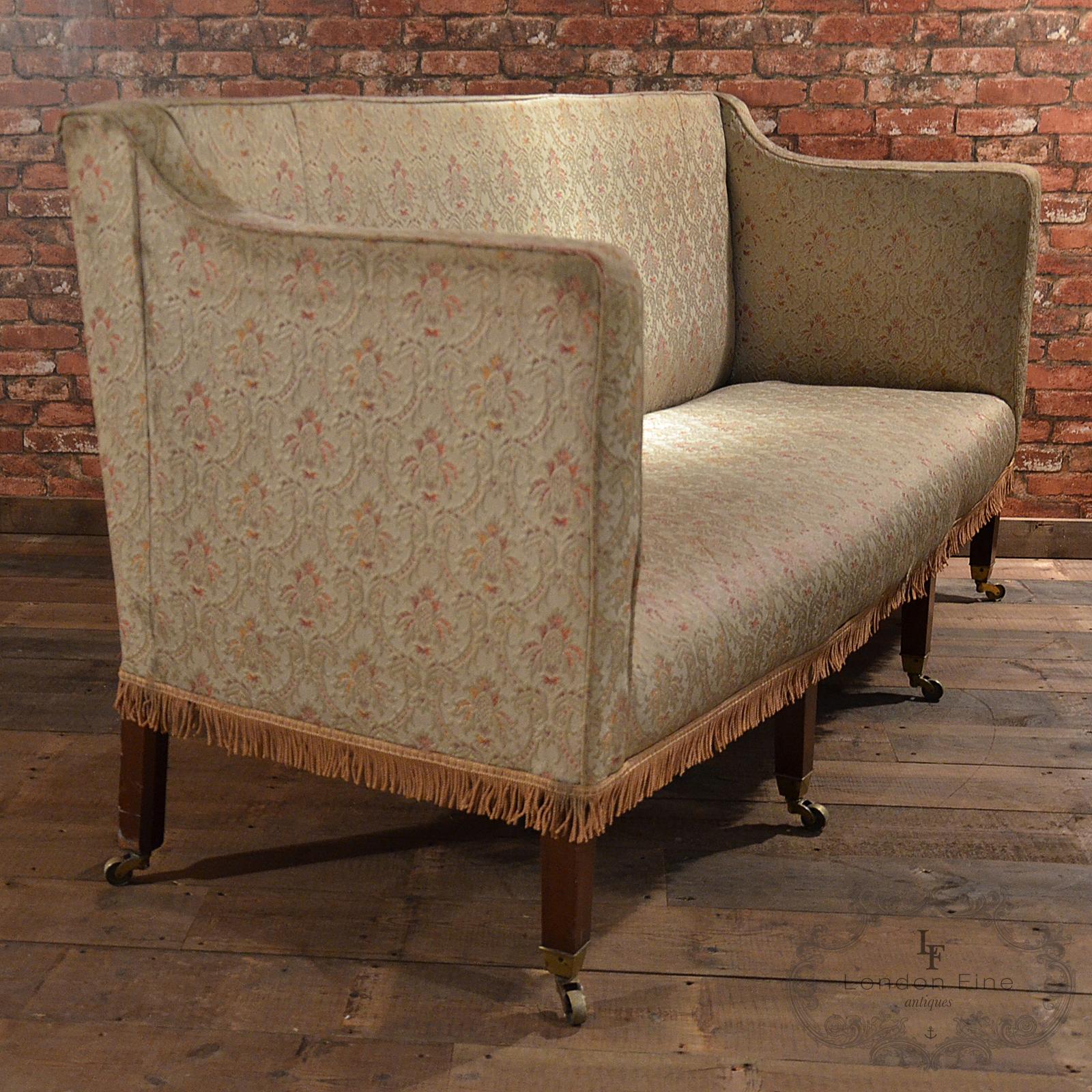 Antique georgian high back sofa english 3 or 4 for Antikes sofa gebraucht