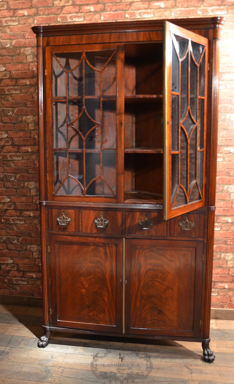 antiques danish european pine corner cupboard mg vintage scandinavian cabinets circa highly antique carved