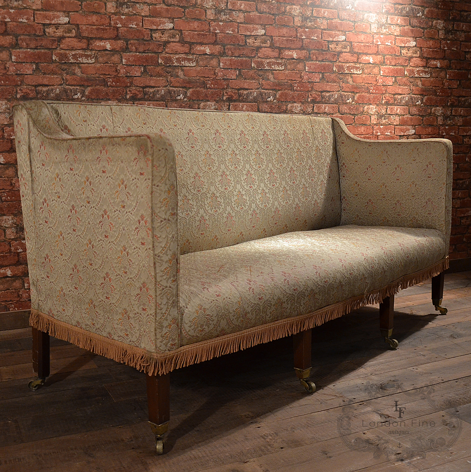 Antique Georgian High Back Sofa English 3 Or 4 Seater For Sale Classifieds