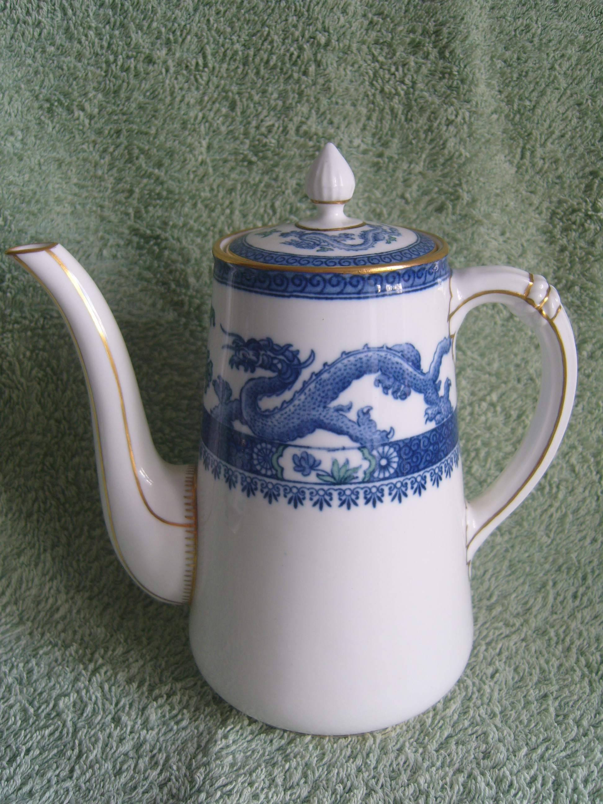 English Crown Derby Dragon Phoenix Coffee Set 1928 For