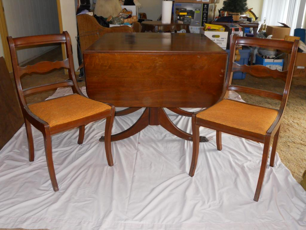Antique dining table and 5 chairs for sale for Dining table and chairs sale
