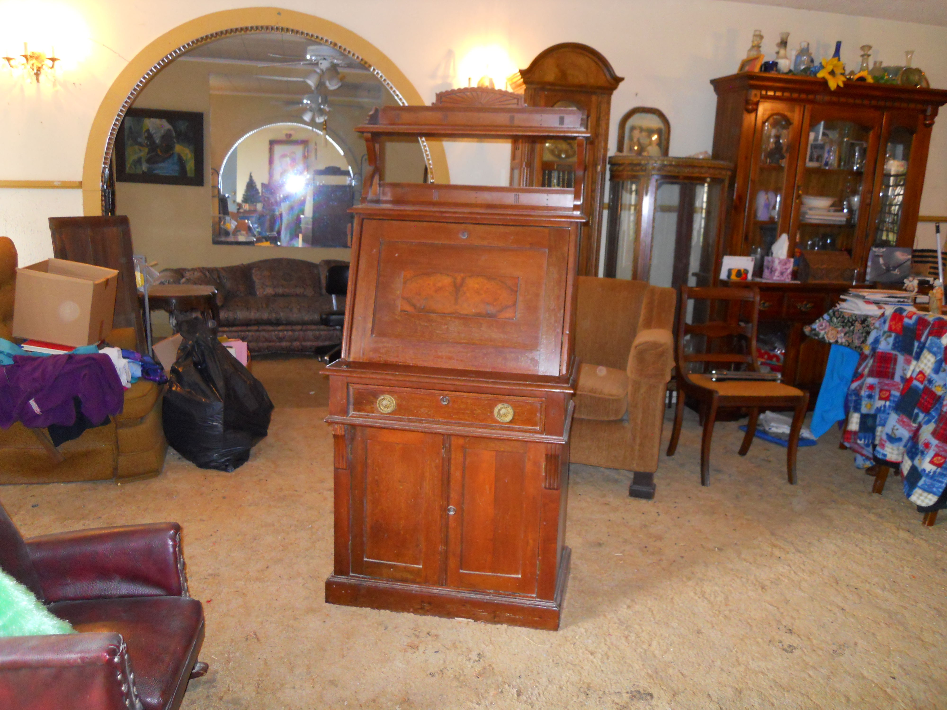antique writing desk for sale Antique leather top mahogany writing desk  mahogany sheraton style  writing desk with burgundy leather top inventory  price 10/1/18 and after:  $296.