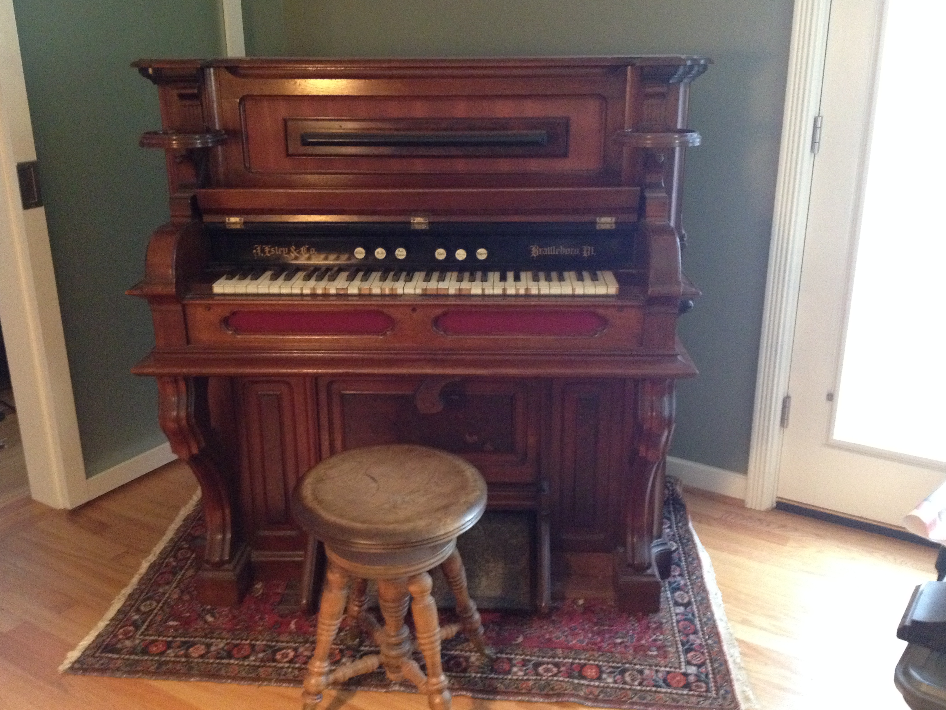 Estey Reed Pump Organ Serial 59839 For Sale Antiques