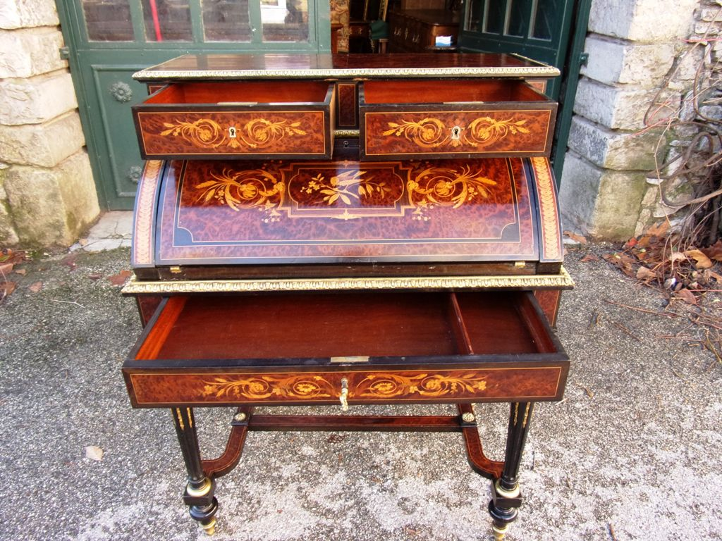 Roll top desk in the taste of Gole Napoleon III period