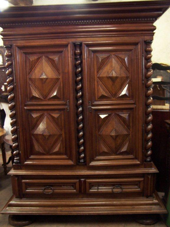 french 17 th century louis xiii period armoire for sale. Black Bedroom Furniture Sets. Home Design Ideas