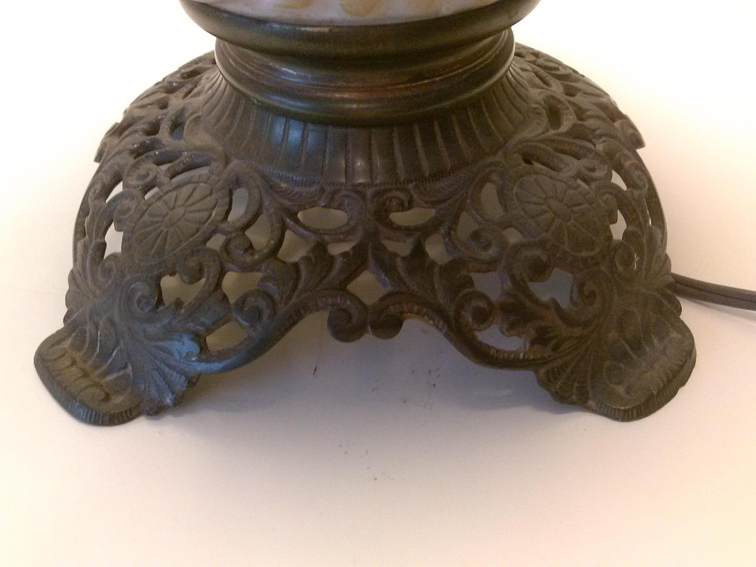Antique Oil Lamp Converted For Sale Antiques Com