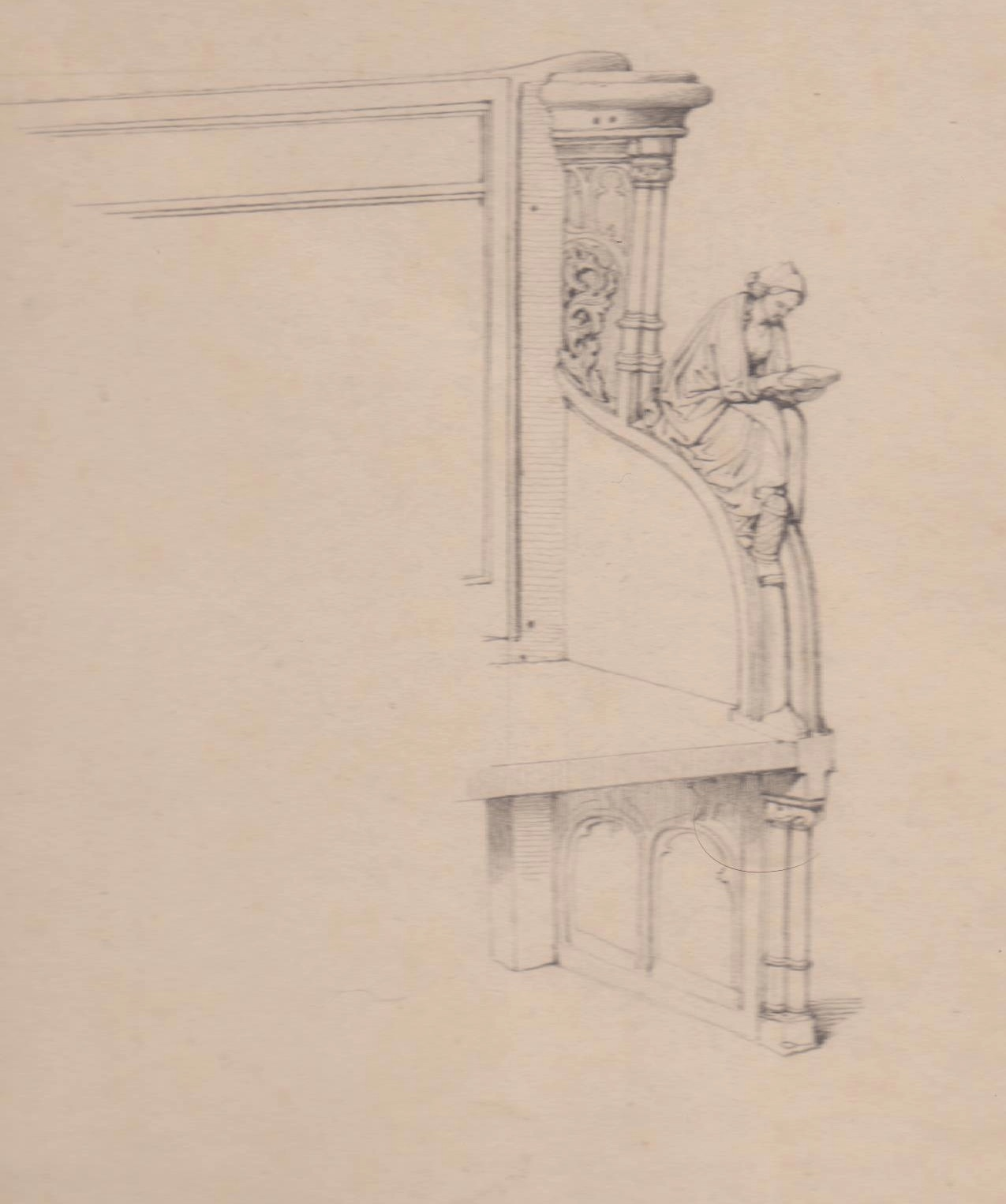 Eugene verboeckhoven rare architectural design 2 works for Architectural drawings for sale
