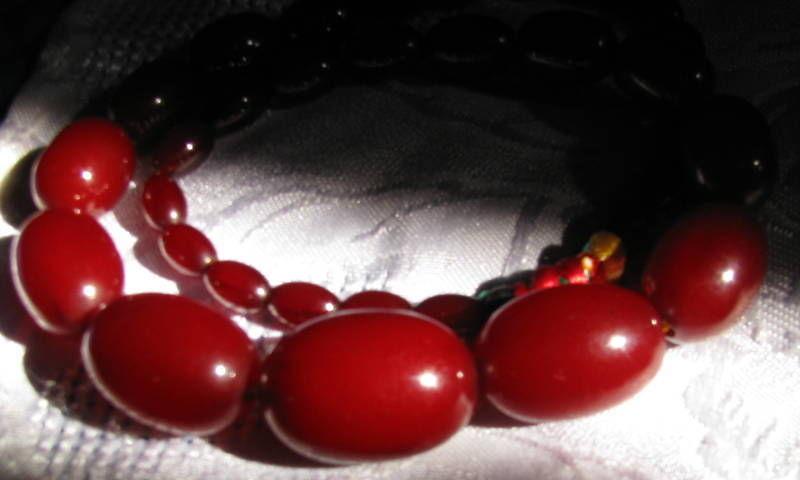 Vintage bakelite cherry amber necklace for sale antiques vintage bakelite cherry amber necklace for sale aloadofball Images