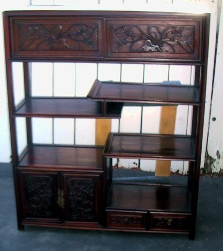 Display Kitchen Cabinets For Sale: Chinese Rosewood Display Cabinet For Sale