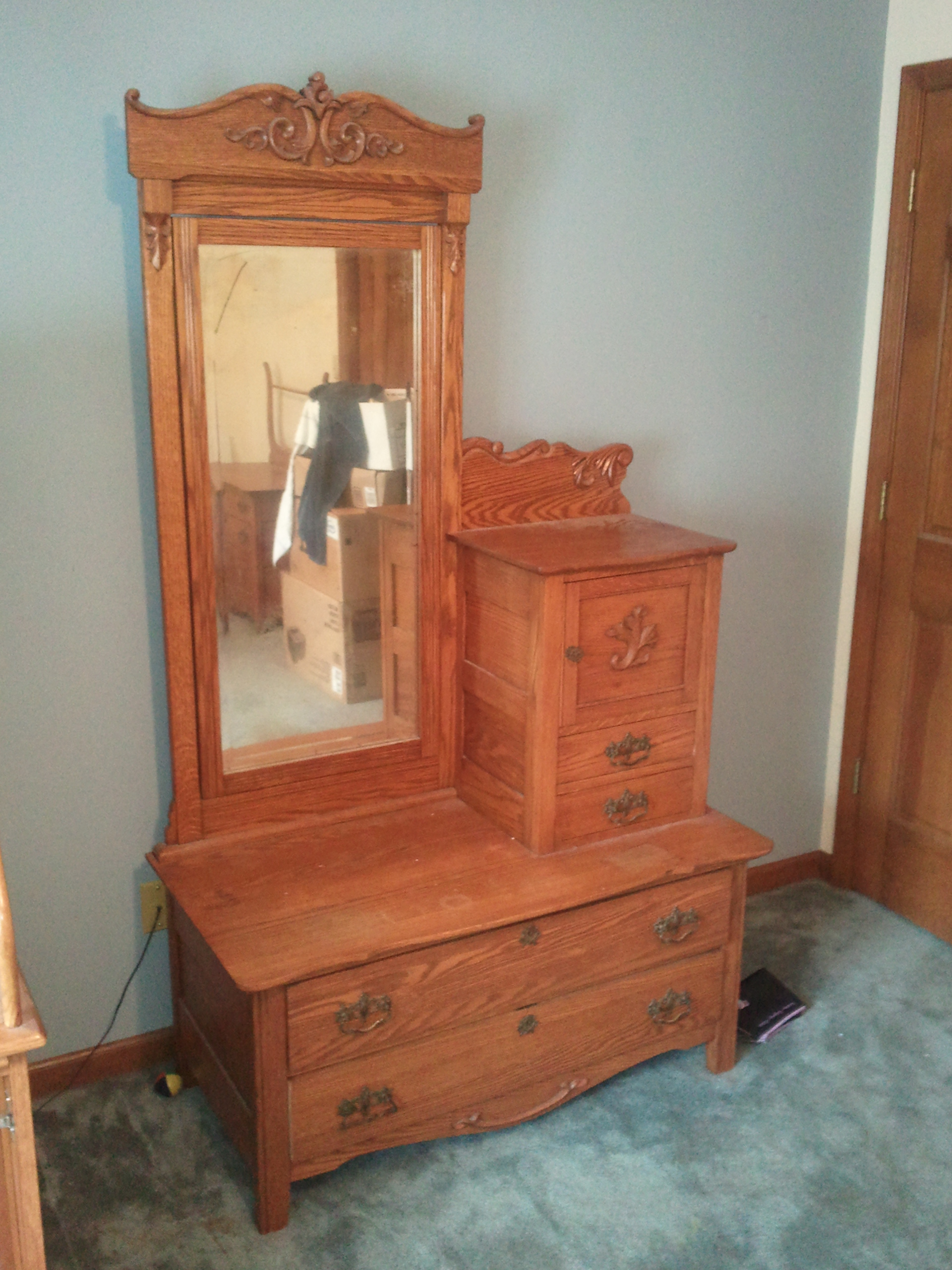 3 piece antique bedroom set for sale for Bed and dresser for sale