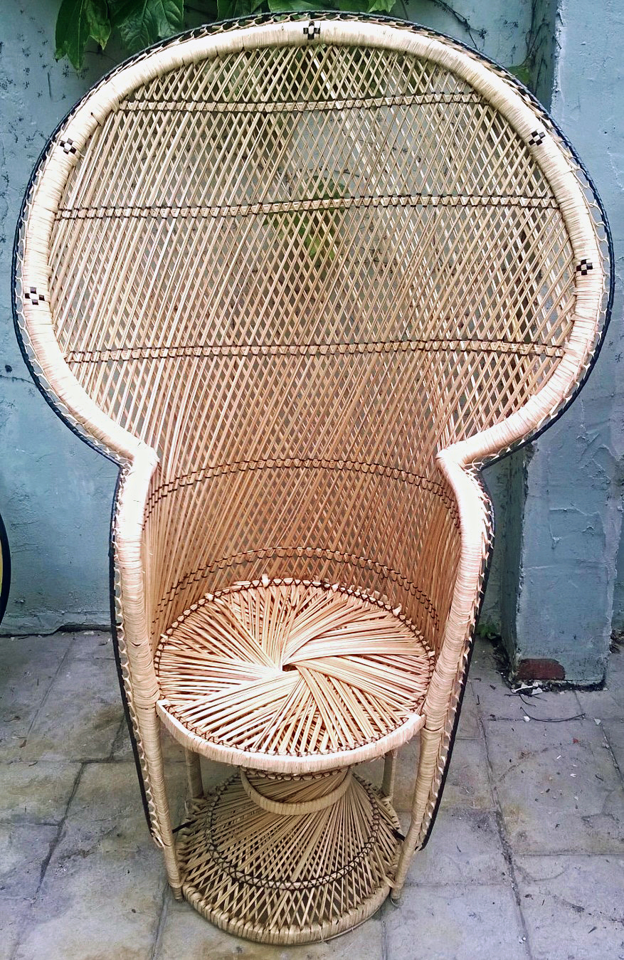 Wicker Peacock Chair For Sale Antiques Com Classifieds