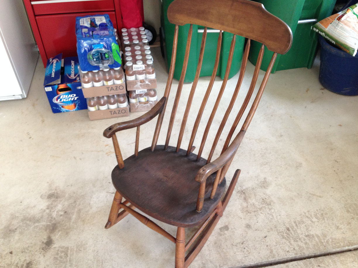 Antique Primitive Rocking Chair Great Condition 40 Tall