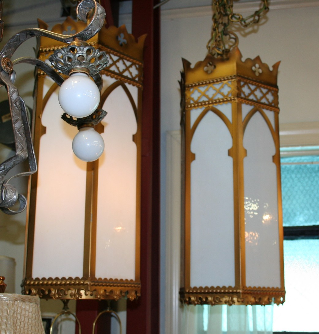 Pair Of Simple Church Lights For Sale