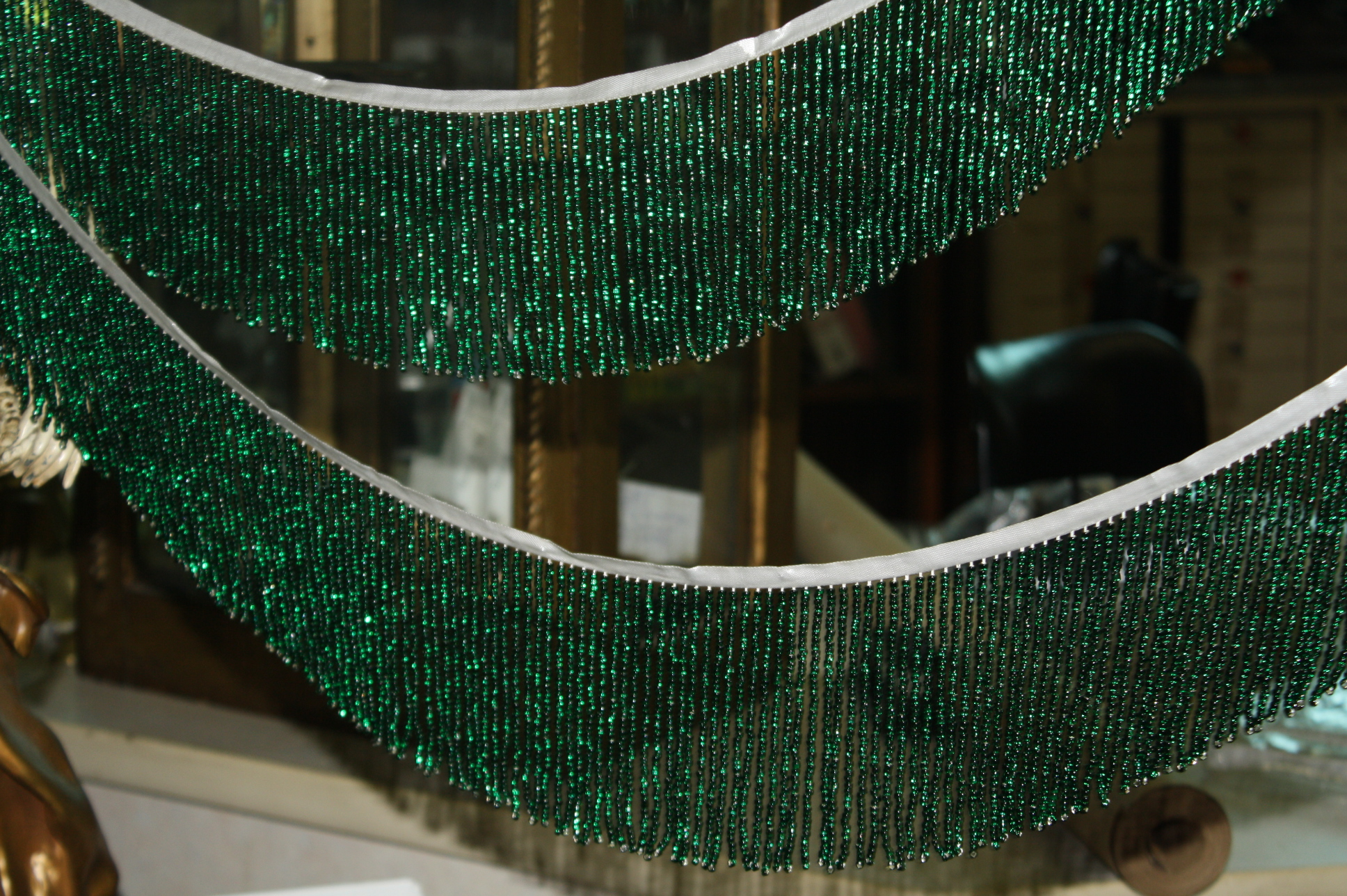 71 italian hand made glass bead lamp shade fringe for sale lamp not included pictured for demonstration only aloadofball Choice Image