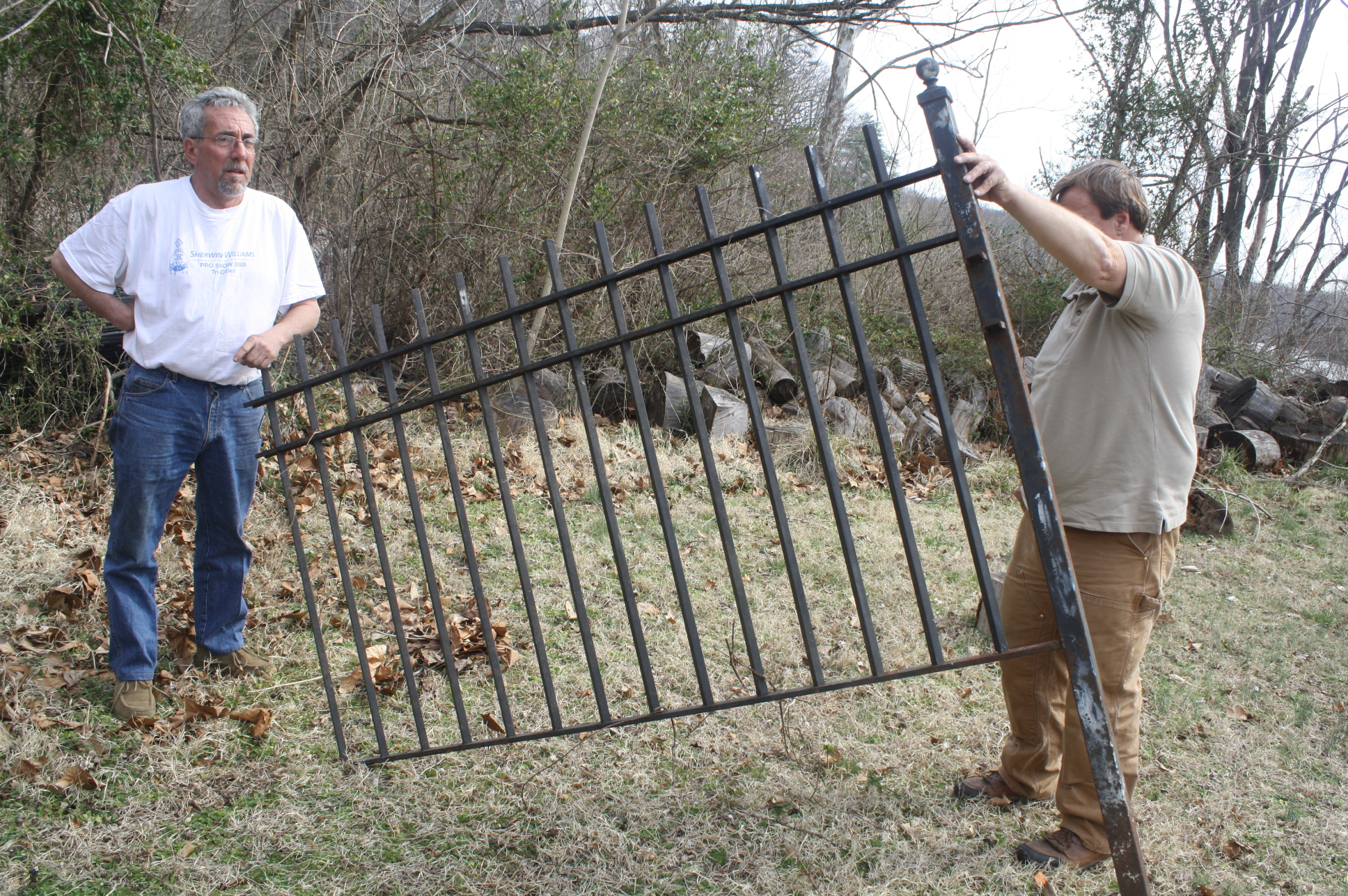 Of fantastic heavy gauge wrought iron fence for sale