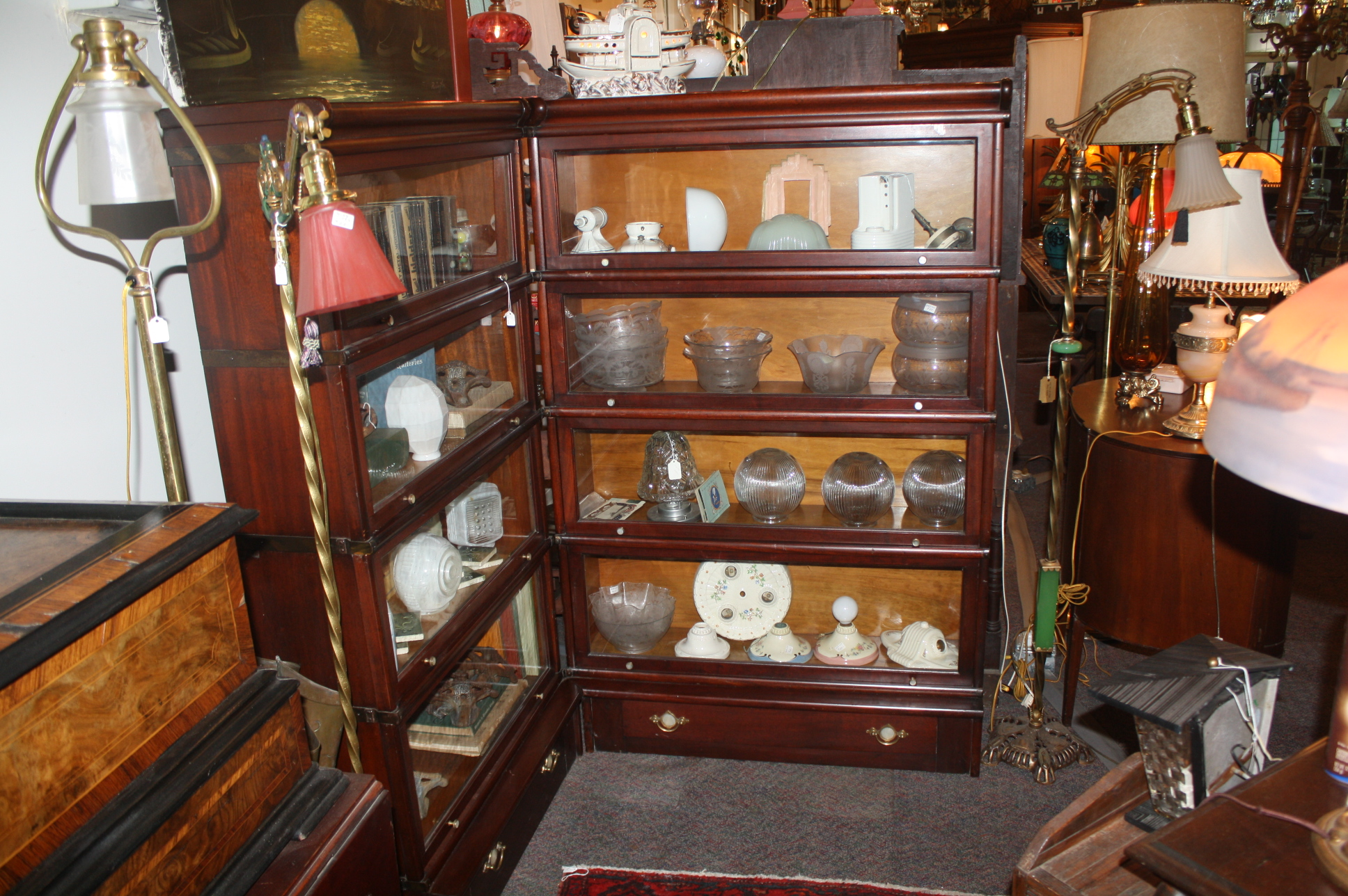 Ten Unit Corner Antique Lawyer 39 S Bookcase With Drawers For Sale Classifieds