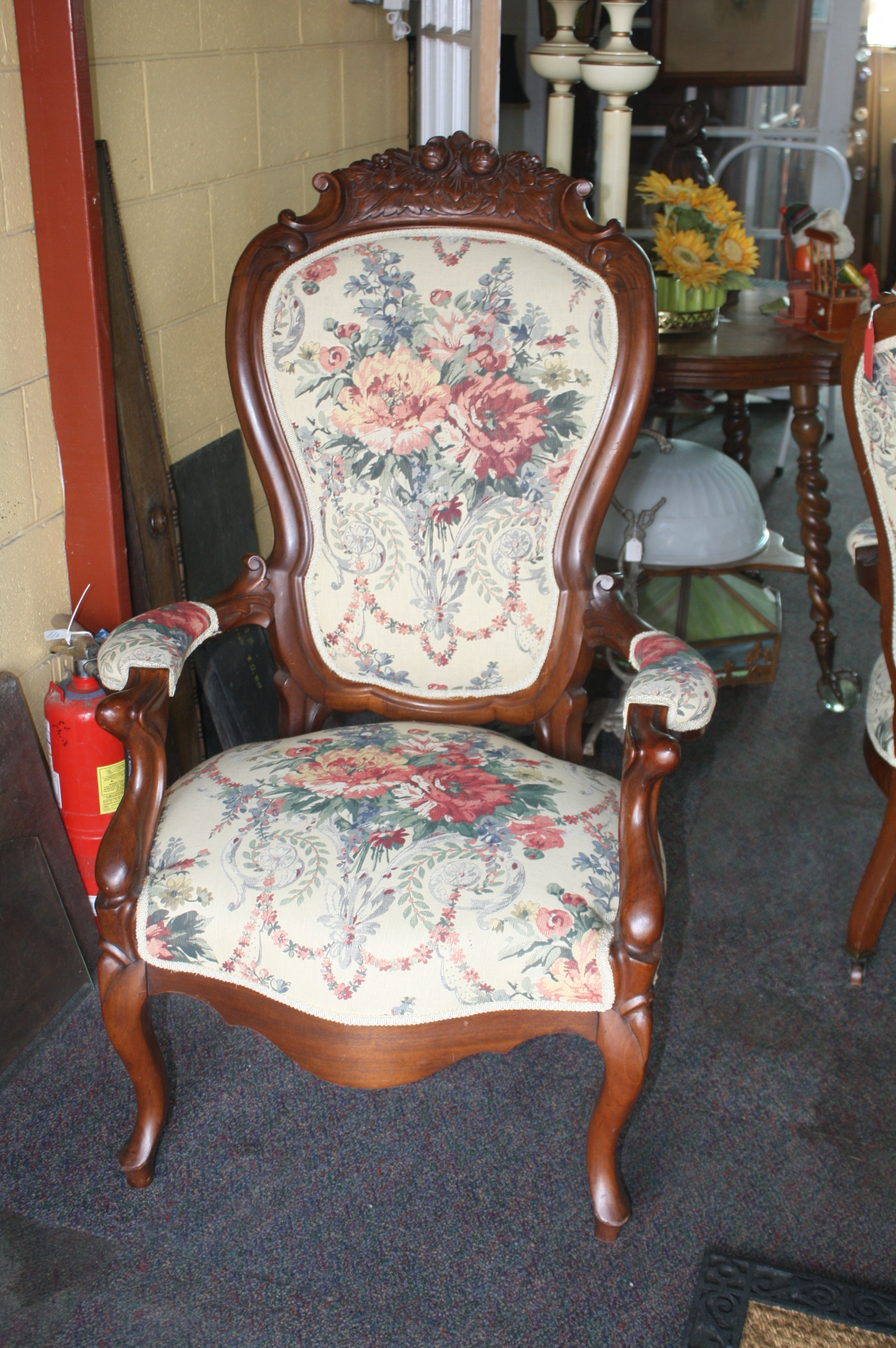 Exceptionally Upholstered Pair Of Victorian Parlor Chairs