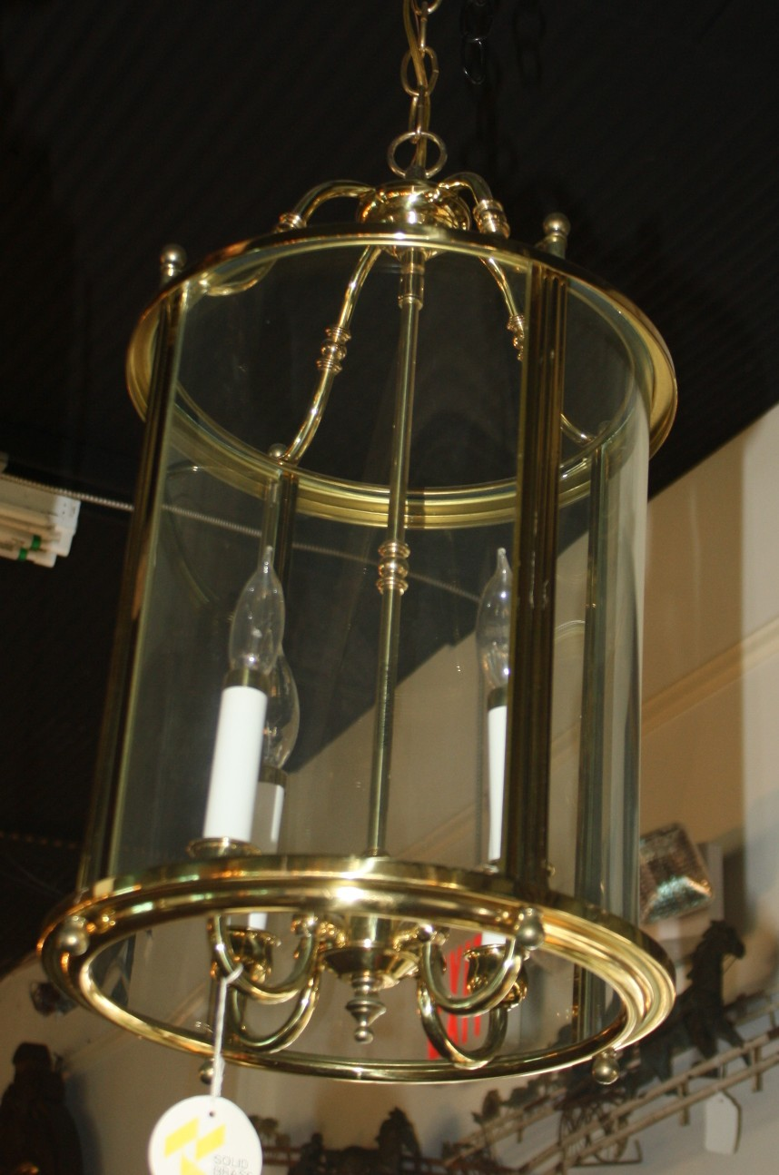 Vintage Solid Brass Hall Lantern For Sale | Antiques.com ...