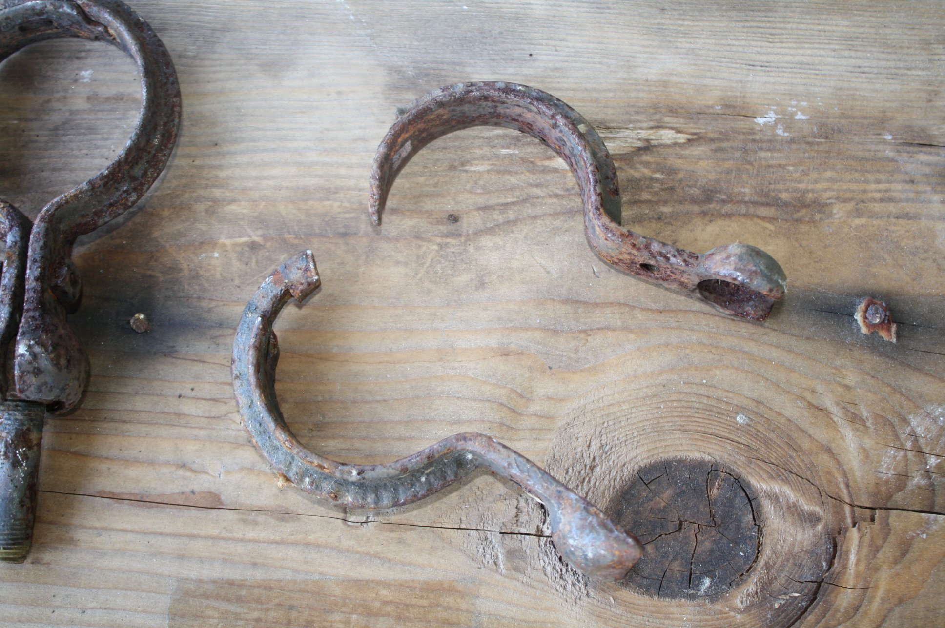 2 and 2 1/4 cast Iron Pipe Hangers For Sale | Antiques com