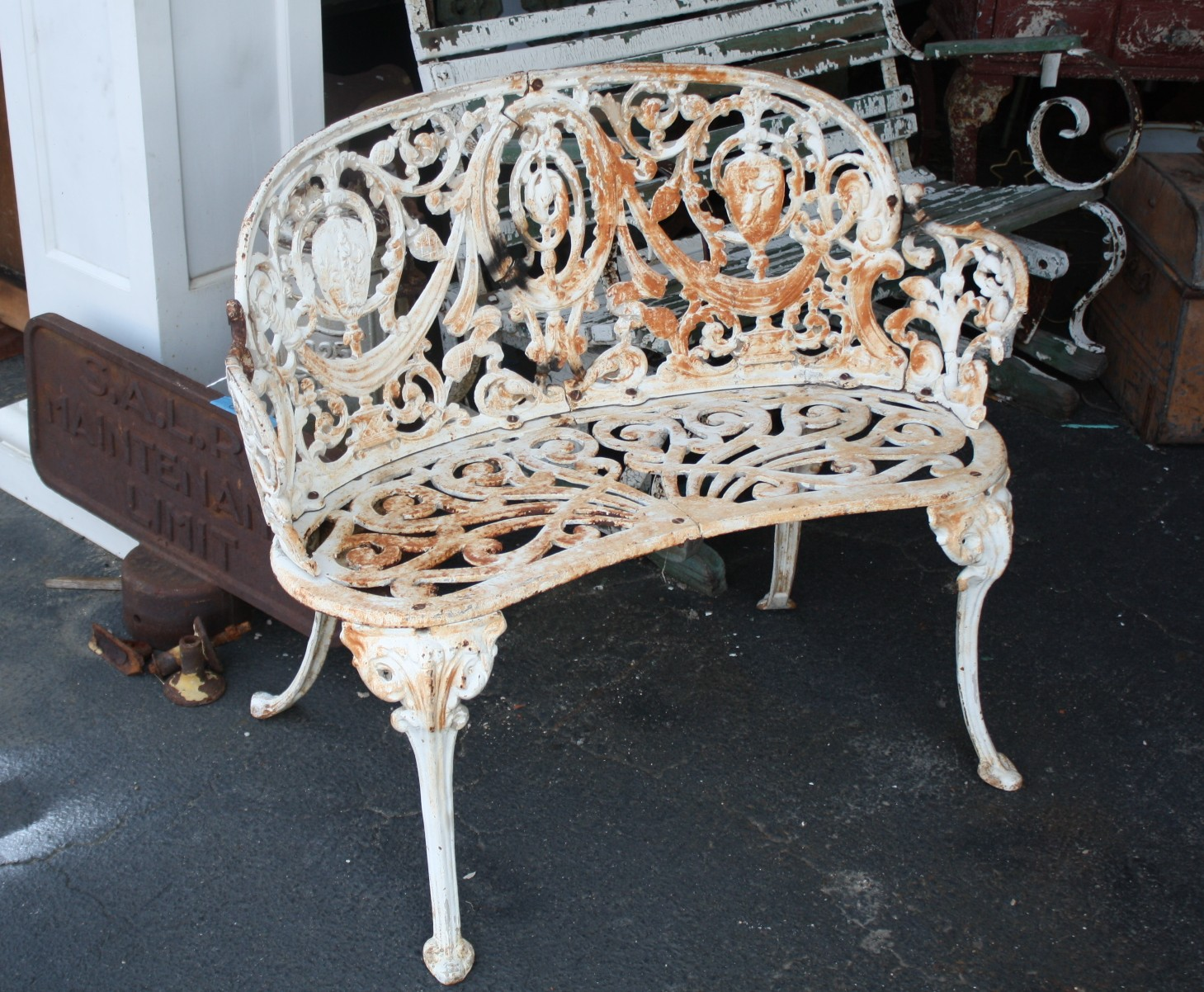 Super Ornate Cast Iron Garden Set - For Sale - Super Ornate Cast Iron Garden Set For Sale Antiques.com Classifieds