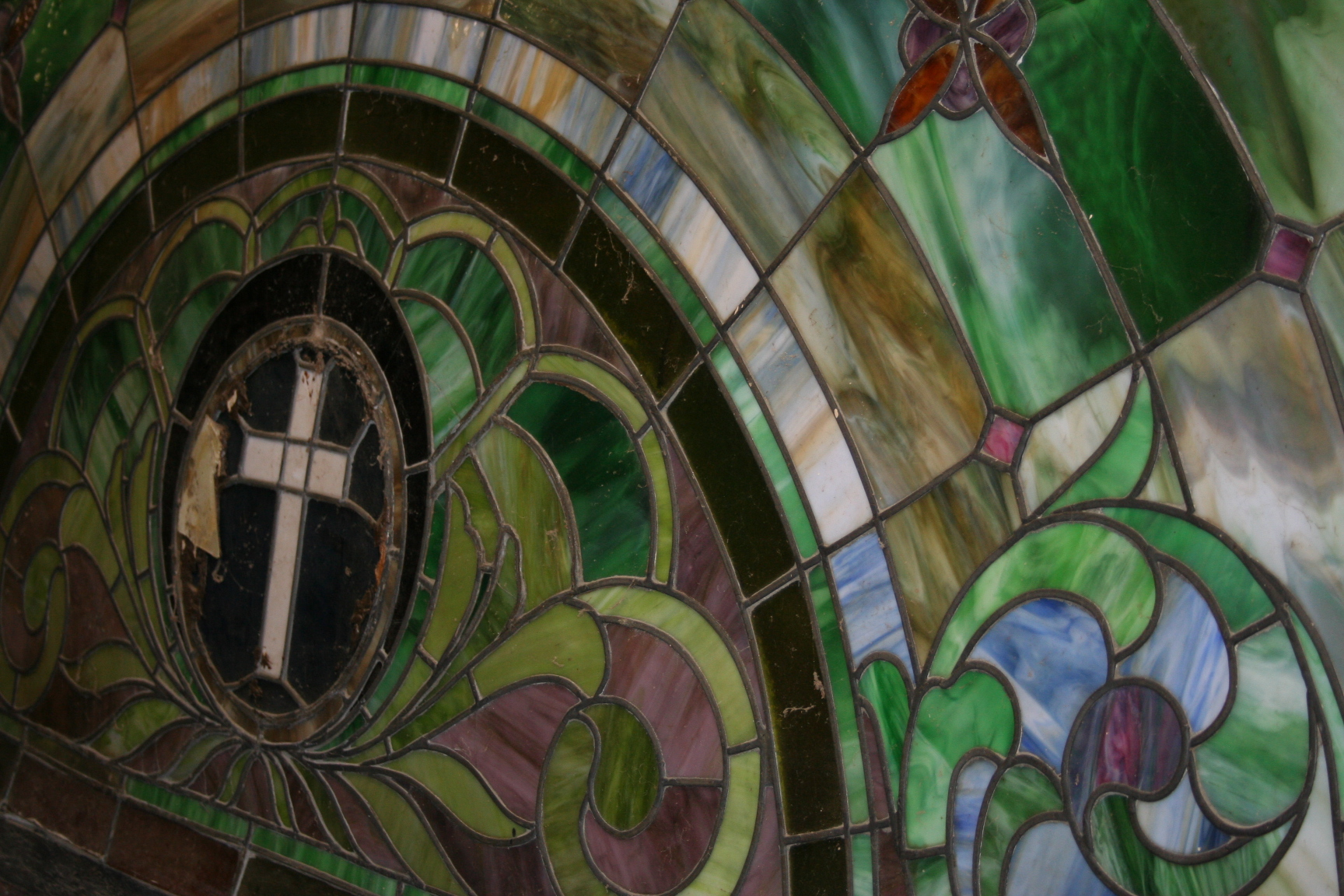 Extremely Large Christian Eyebrow Stained Glass Window For