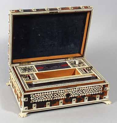 An Indian Vizagapatam Jewelry Box Circa 1880 Earle D Vandekar