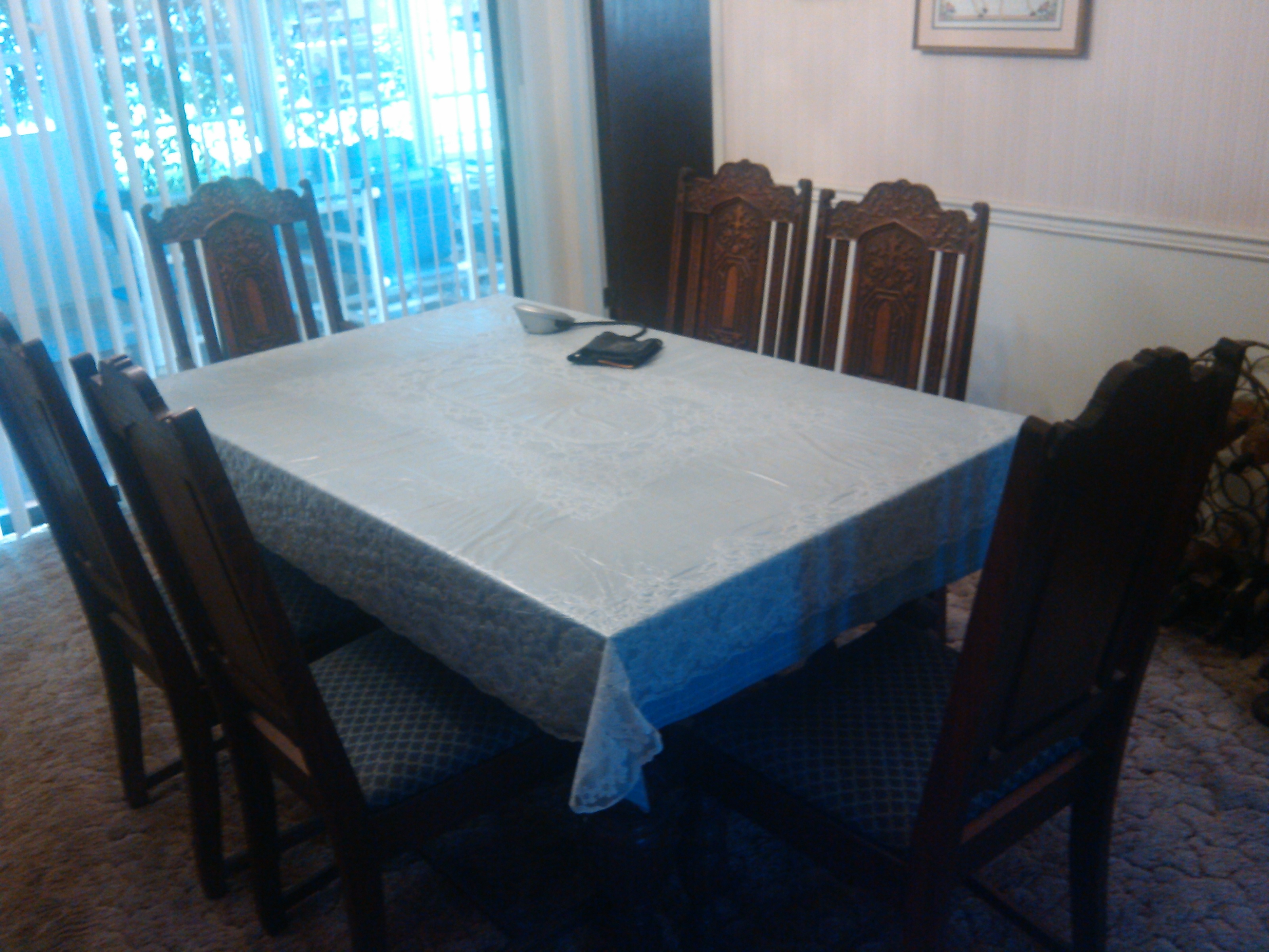 full antique dining set 4 pieces plus 8 chairs For Sale | Antiques ...