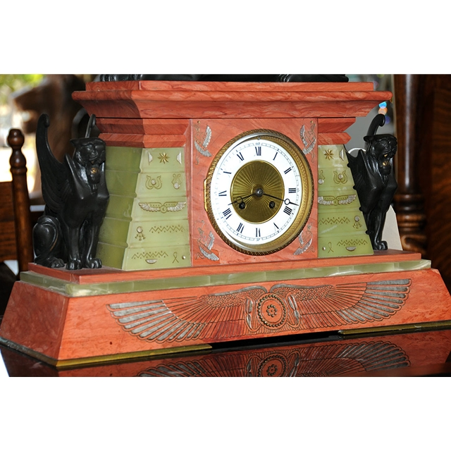 Unusual antique french egyptian revival clock with Unique clocks for sale