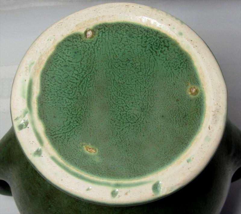 Brush Mccoy Pottery Large Double Handled Vase Great Glaze Matte