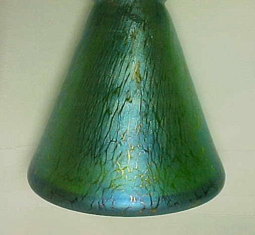 Loetz Creta Papillon 7 Finger Fan Vase Outstanding For Sale
