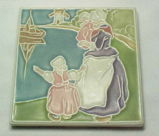 tile trivet rookwood pottery dutch harbor scene tea tile trivet for sale